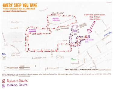 AVERY STEP YOU TAKE proposed route GRAPHIC