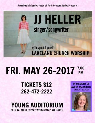 JJ HELLER Concert Poster